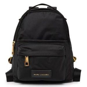 Marc Jacobs Varsity Mini Black Nylon Gold Backpack